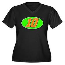 DP10circle Women's Plus Size V-Neck Dark T-Shirt