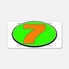 DP7circle Aluminum License Plate