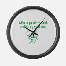 Life is good. Large Wall Clock