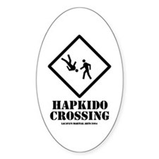 Hapkido Crossing Oval Decal