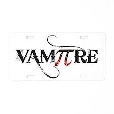 Pi Day Vampire Aluminum License Plate