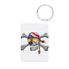 American Pirate Scull and Cross Bones Keychains