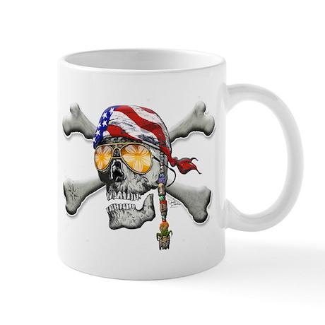 American Pirate Scull and Cross Bones Mug