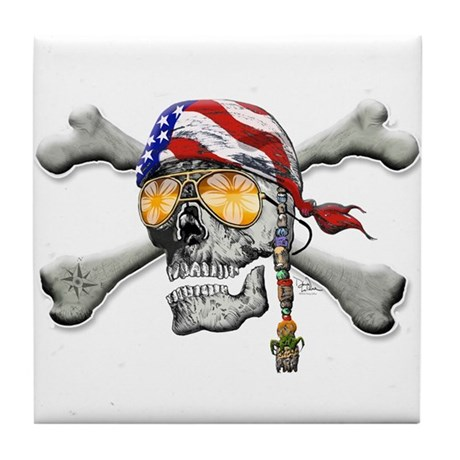 American Pirate Tile Coaster