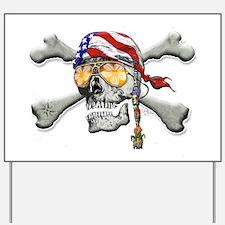 American Pirate Yard Sign