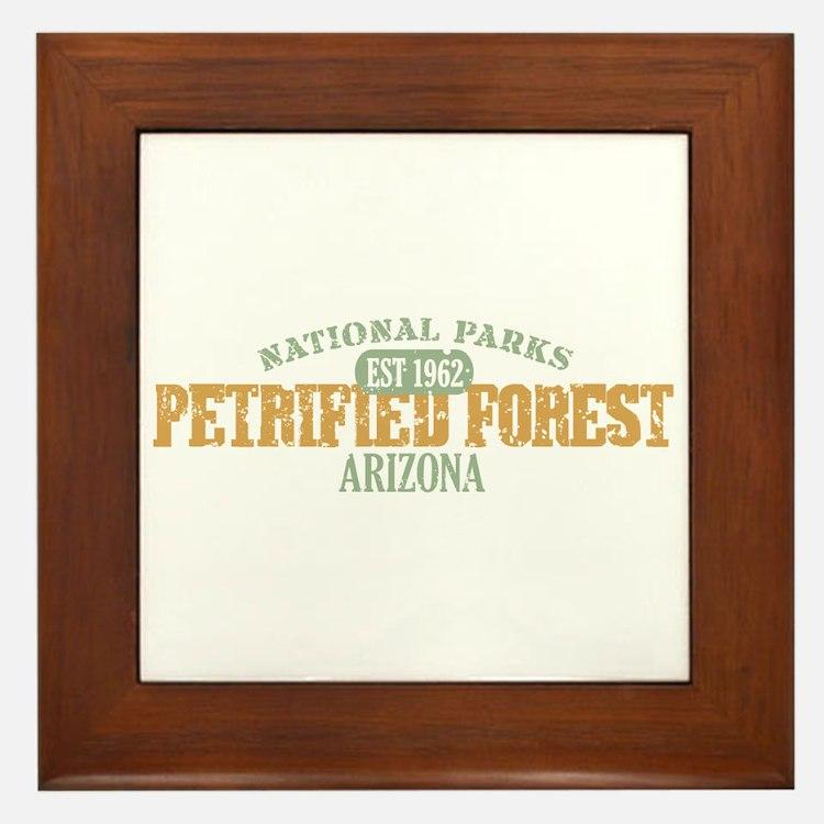 Petrified Forest Arizona Framed Tile