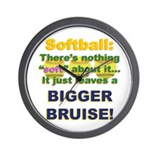 Softball = Not Soft Wall Clock