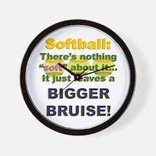 Softball = Not Soft Wall Clock