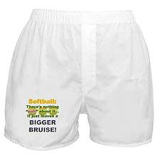 Softball = Not Soft Boxer Shorts