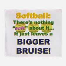 Softball = Not Soft Throw Blanket