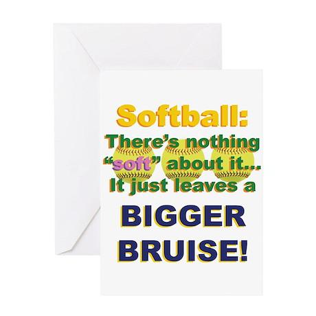 Softball = Not Soft Greeting Card