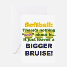 Softball = Not Soft Greeting Card