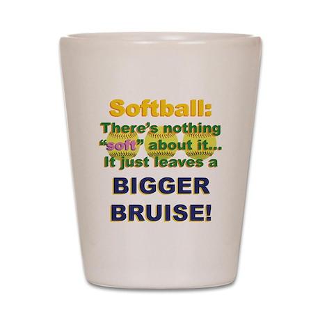 Softball = Not Soft Shot Glass