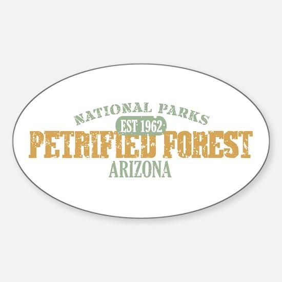 Petrified Forest Arizona Sticker (Oval)