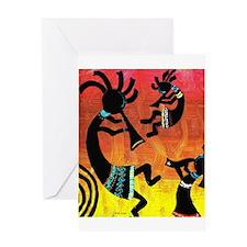 Dance of the Kokopelli Greeting Card