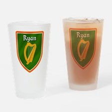 Ryan Family Crest Drinking Glass