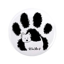 "Pawfect Westie 3.5"" Button"