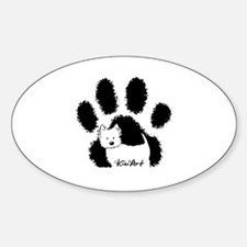 Pawfect Westie Sticker (Oval)