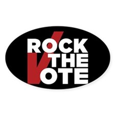 Rock the Vote Sticker (Oval)