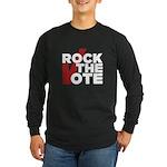 Rock the Vote Long Sleeve Dark T-Shirt