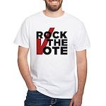 Rock the Vote White T-Shirt