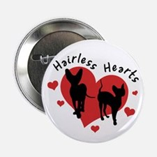 "2.25"" Button - Hairless Hearts"