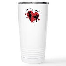 Travel Coffee Mug-Red&Black-Hairless
