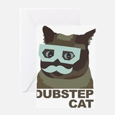 Dubstep Cat Greeting Card