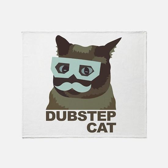Dubstep Cat Throw Blanket