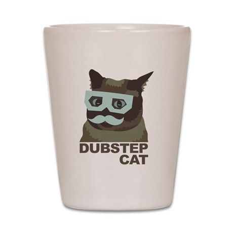 Dubstep Cat Shot Glass