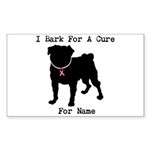 Pug Personalizable Bark For A Sticker (Rectangle 1