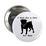 """Pug Personalizable Bark For A 2.25"""" Button"""
