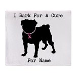 Pug Personalizable Bark For A Throw Blanket