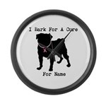 Pug Personalizable Bark For A Large Wall Clock
