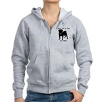 Pug Personalizable Bark For A Women's Zip Hoodie