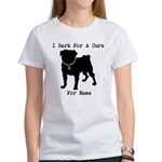 Pug Personalizable Bark For A Women's T-Shirt