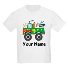 Personalized 9th Birthday Monster Truck T-Shirt