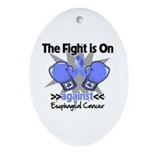 Fight Esophageal Cancer Ornament (Oval)