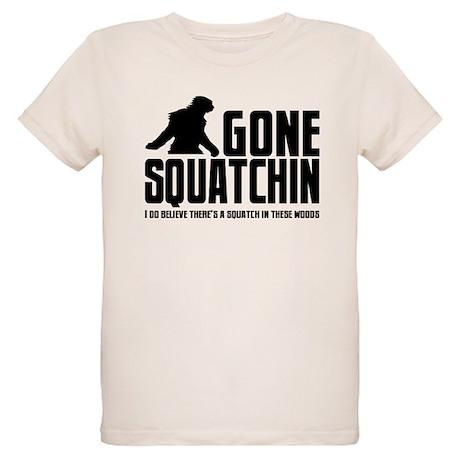 Gone Squatchin - I do believe Organic Kids T-Shirt