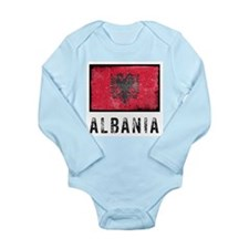Vintage Albania Long Sleeve Infant Bodysuit