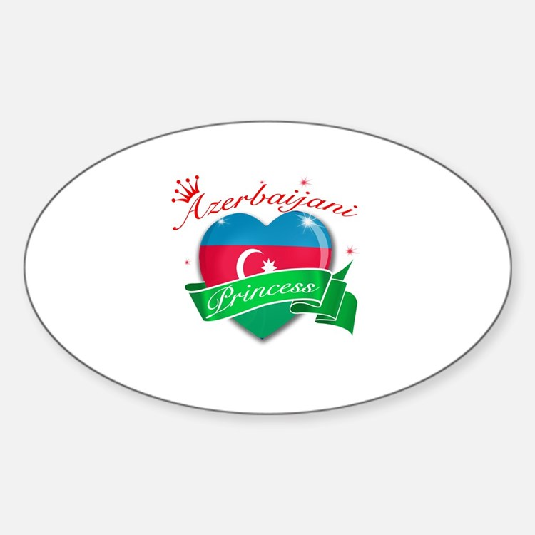 Azerbaijani Princess Sticker (Oval)