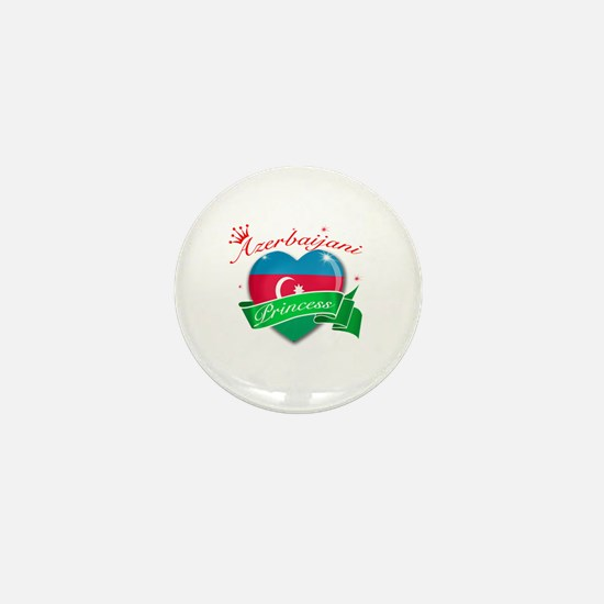 Azerbaijani Princess Mini Button
