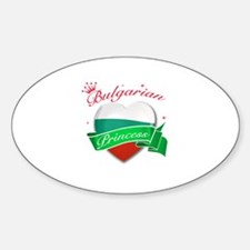 Bulgarian Princess Sticker (Oval)