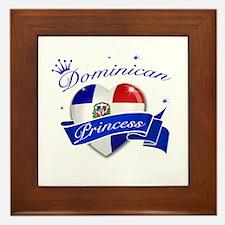 Dominican Princess Framed Tile