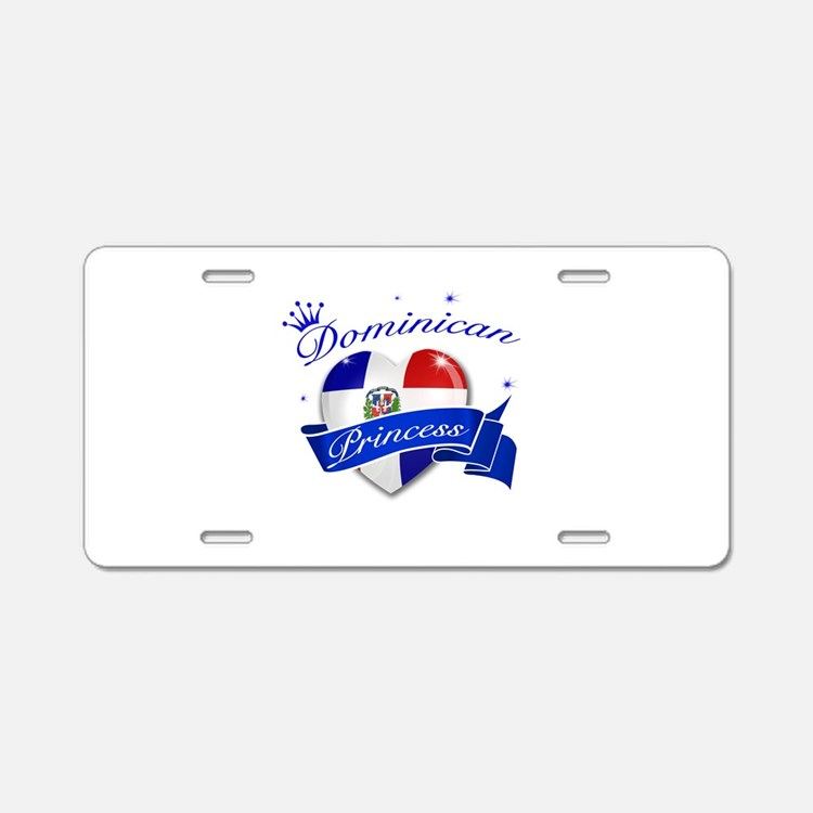 Dominican Princess Aluminum License Plate
