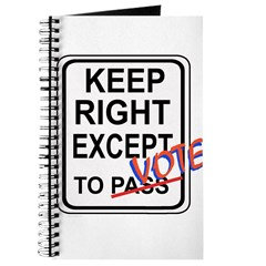 Keep Right EXCEPT to Vote Journal