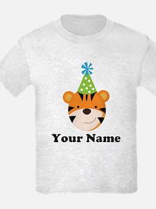 Personalized Birthday Tiger T-Shirt
