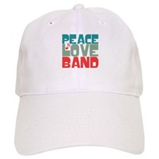 Peace Love Band Baseball Cap