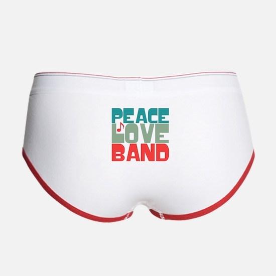Peace Love Band Women's Boy Brief
