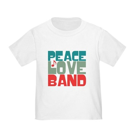 Peace Love Band Toddler T-Shirt
